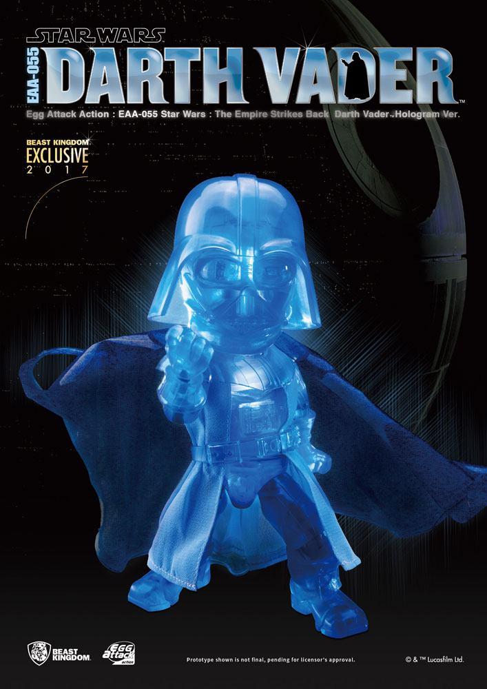 Star Wars Episode V Egg Attack Action Figure Darth Vader Hologram Ver. Exclusive 2017 17 cm --- DAMAGED PACKAGING