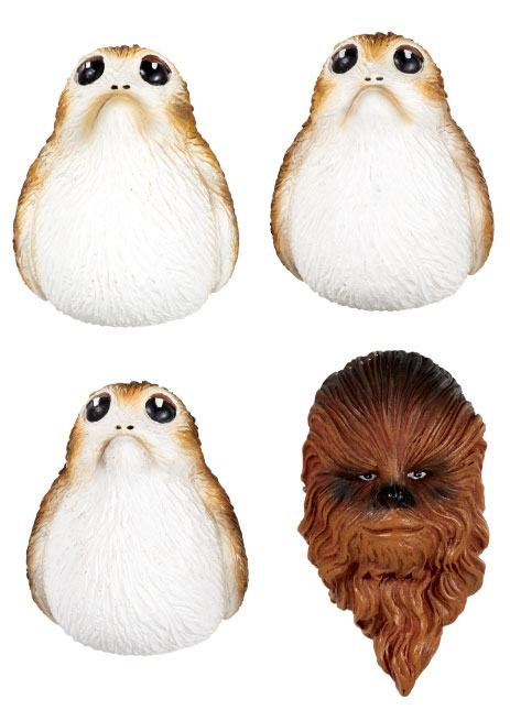 Star Wars Episode VIII Fridge Magnets Chewbacca & Porgs