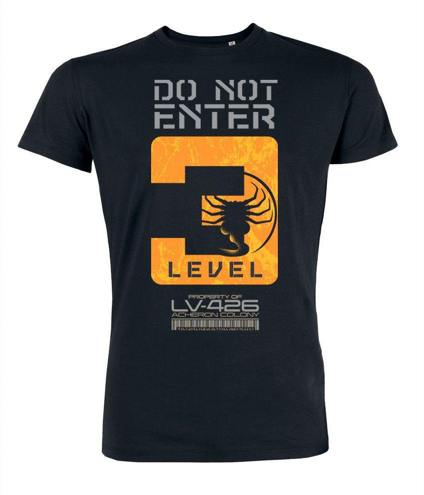 Alien T-Shirt Do Not Enter Level 3 Size XXL