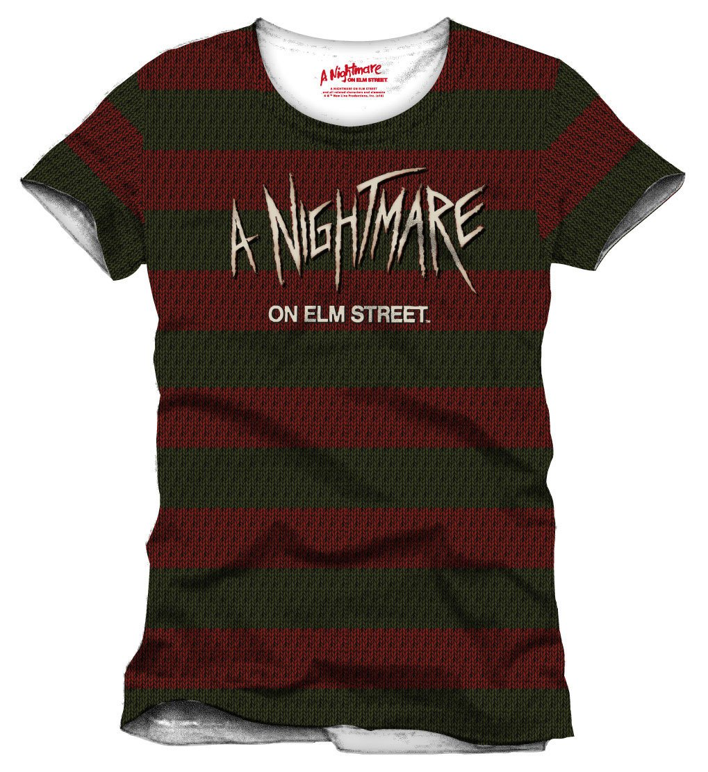 Nightmare On Elm Street T-Shirt Stripes Size M