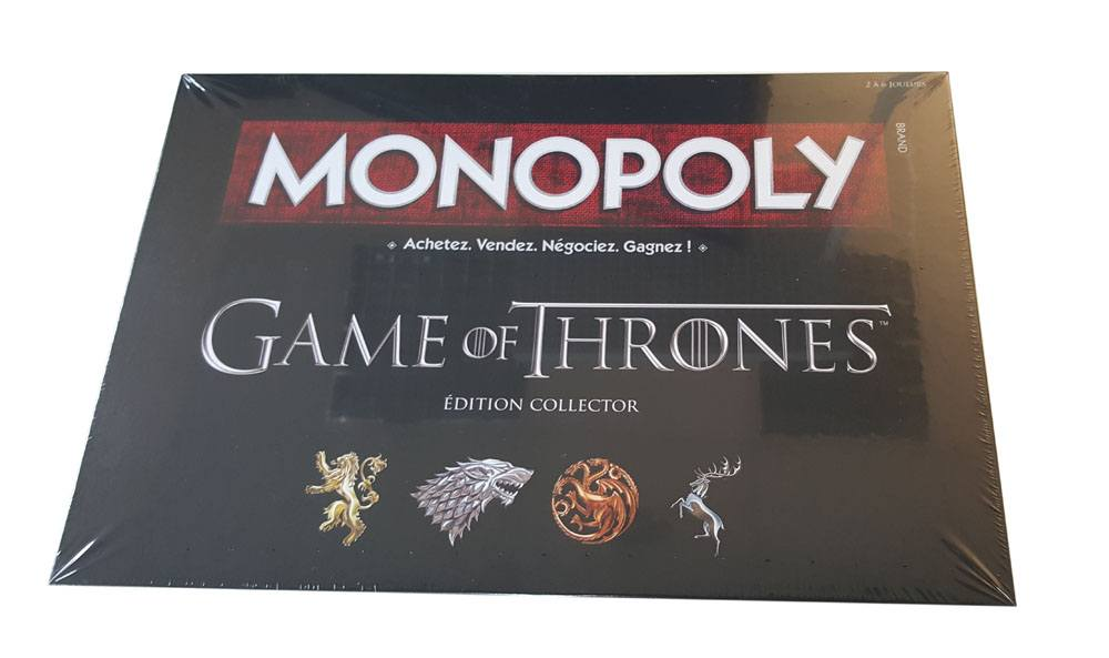 Game of Thrones Board Game Monopoly *French Version* --- DAMAGED PACKAGING