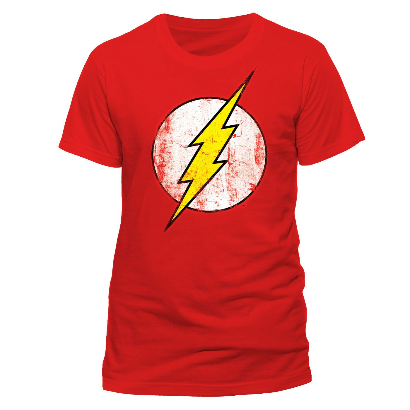 The Flash T-Shirt Distressed Logo Size M