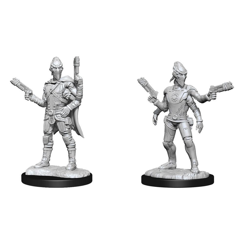 Starfinder Battles Deep Cuts Unpainted Miniatures Kasatha Operative Case (2)