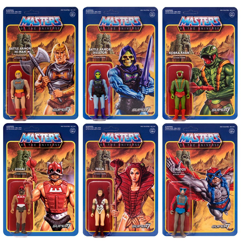 Masters of the Universe ReAction Action Figures 10 cm Wave 3 Assortment (6)