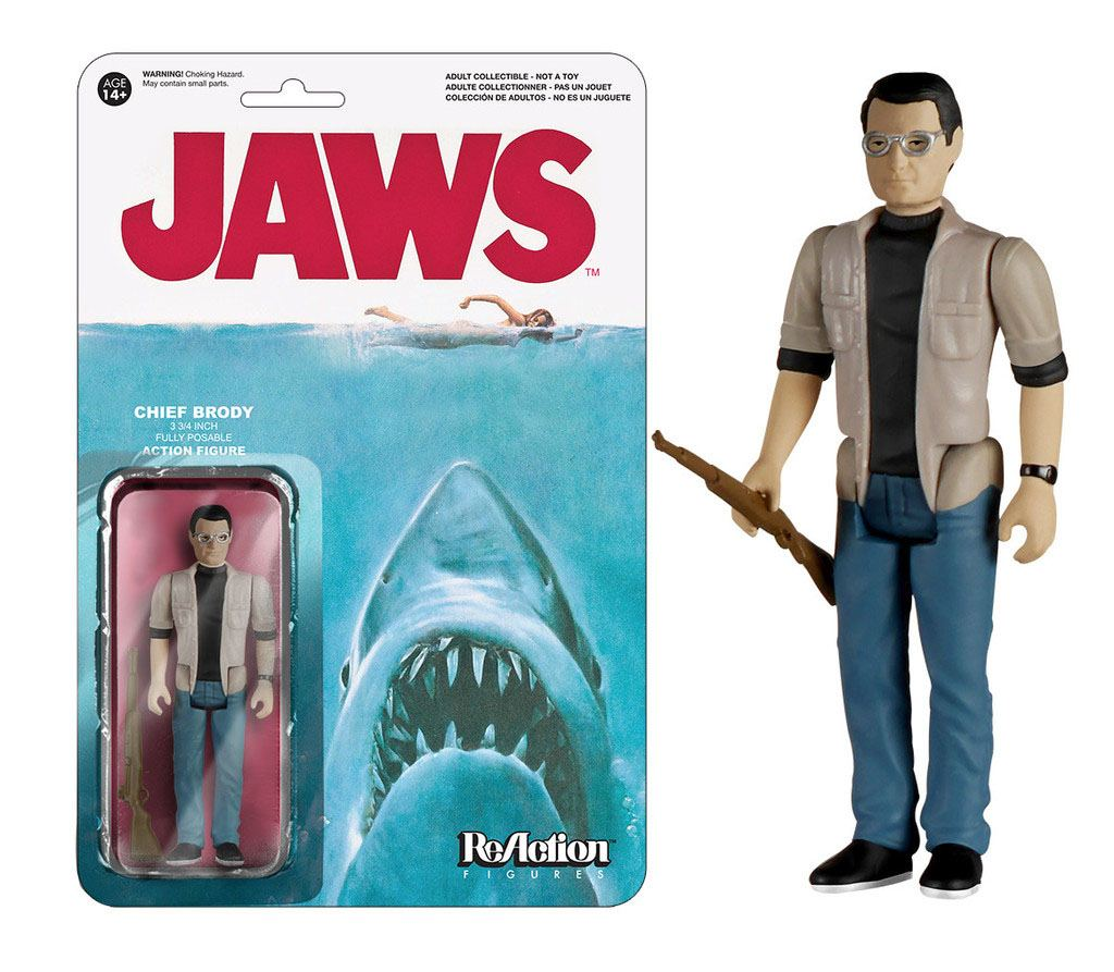 Jaws ReAction Action Figure Chief Brody 10 cm