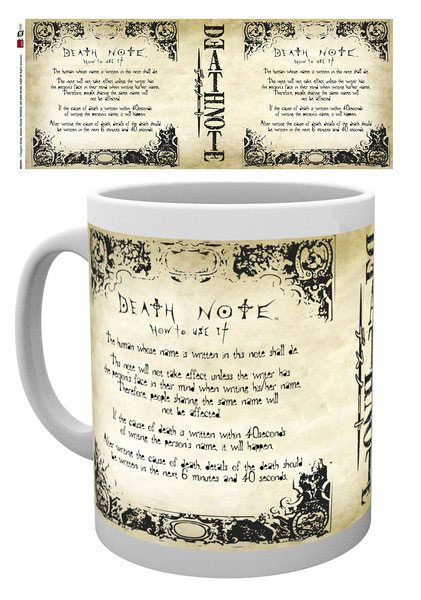 Death Note Mug Rules