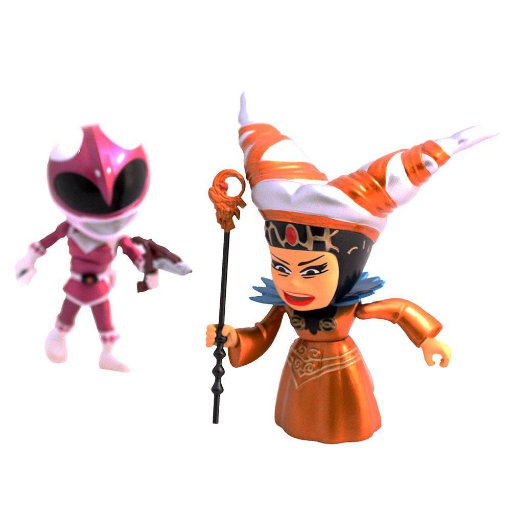 Mighty Morphin Power Rangers Action Vinyl Figures 2-Pack Metallic Rita vs Pink Ranger 8 cm