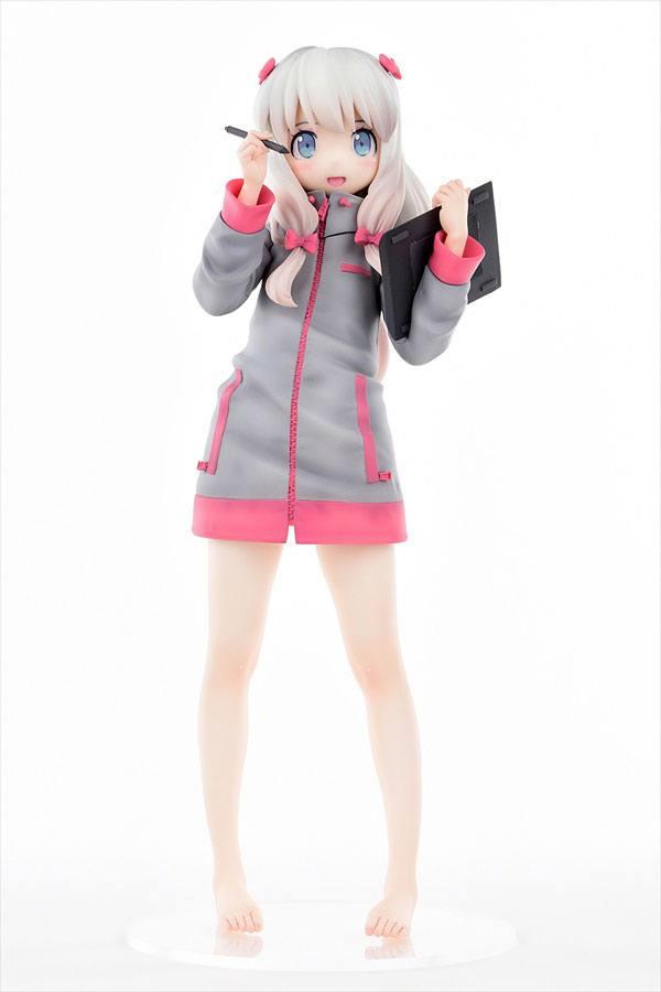 Eromanga Sensei PVC Statue 1/6 Sagiri Izumi The First Volume Cover Illust Ver. Smiling Face 25 cm