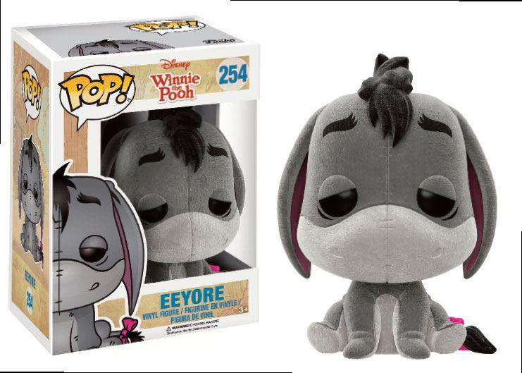 Winnie the Pooh POP! Disney Vinyl Figure Eeyore (Flocked) 9 cm