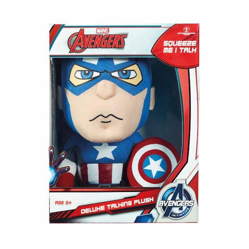 Marvel Deluxe Talking Plush Figure Captain America 38 cm *English Version*