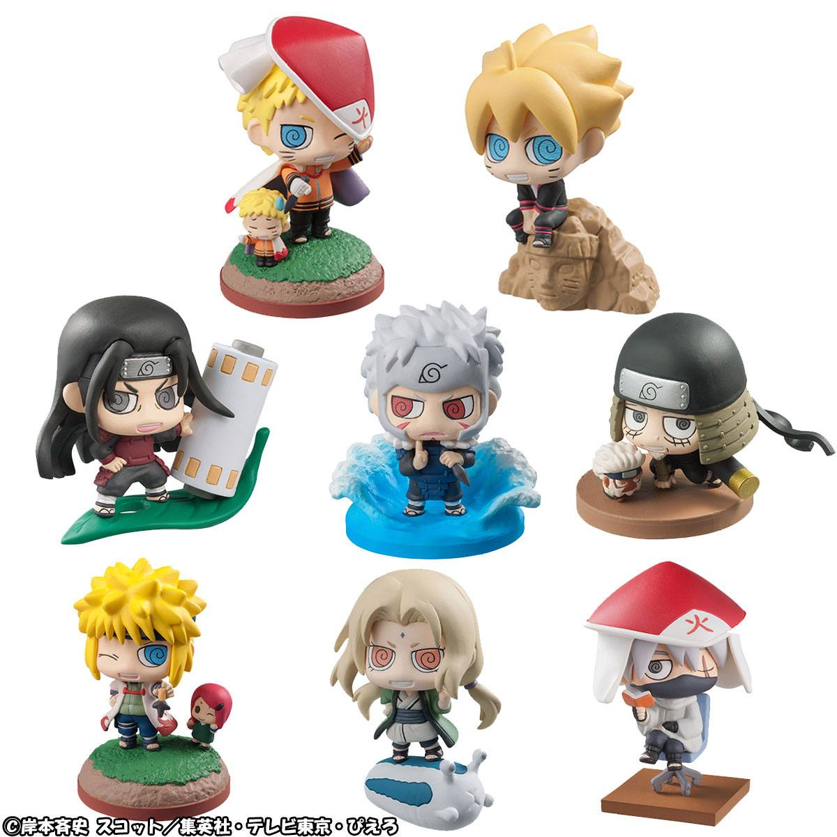 Boruto Naruto Next Generation Petit Chara Land Trading Figure 6 cm Assortment Boruto & Hokage (8) --