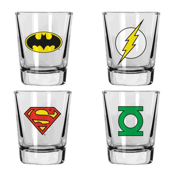 DC Comics Shotglass 4-Pack Heroes