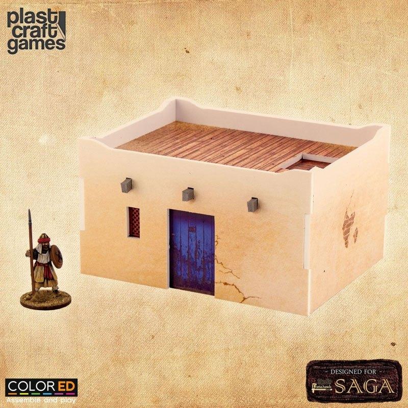 SAGA ColorED Miniature Gaming Model Kit 28 mm Desert Dwelling