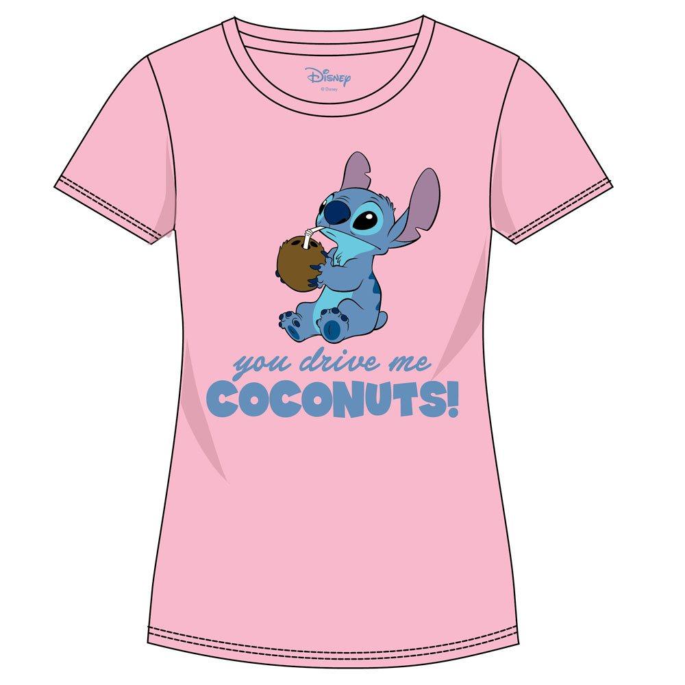 Lilo & Stich Ladies T-Shirt Drive Me Coconuts Size L