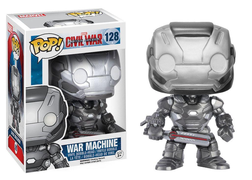 Captain America Civil War POP! Vinyl Bobble-Head War Machine 10 cm