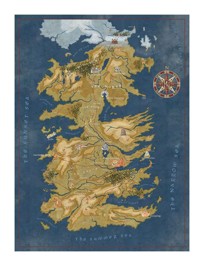 Game of Thrones Puzzle Cersei Lannister Westeros Map
