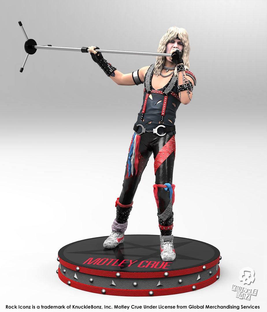 Mötley Crüe Rock Iconz Statue 1/9 Vince Neil 22 cm --- DAMAGED PACKAGING