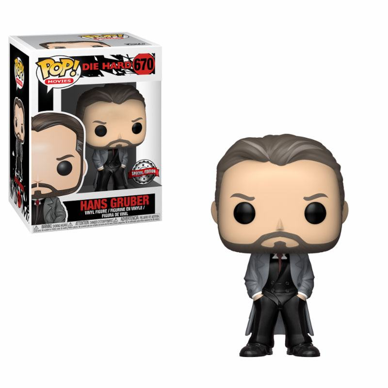 Die Hard POP! Movies Vinyl Figure Hans Gruber GameStop Exclusive 9 cm