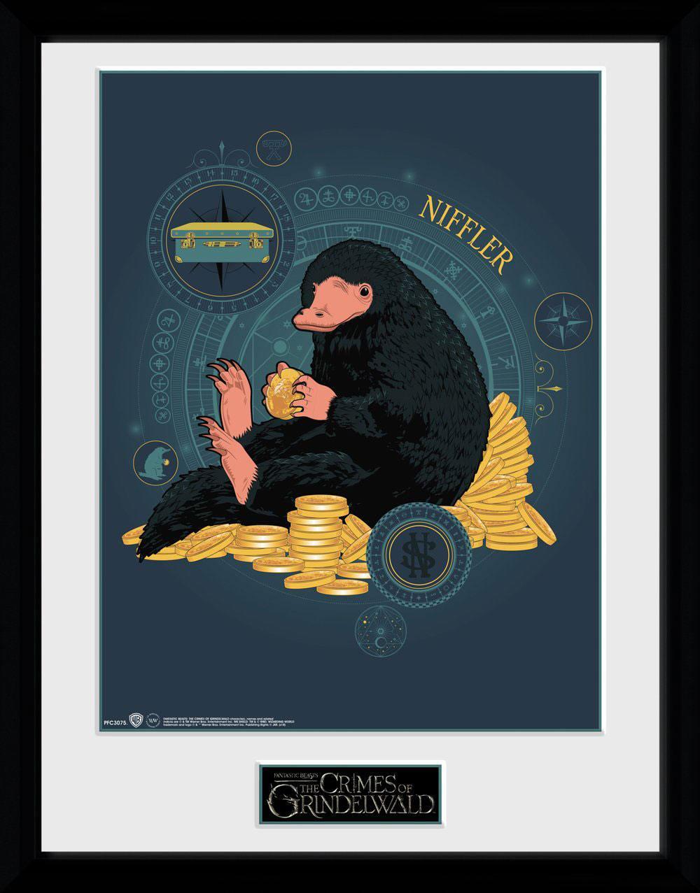Fantastic Beasts 2 Framed Poster Niffler Coin 45 x 34 cm