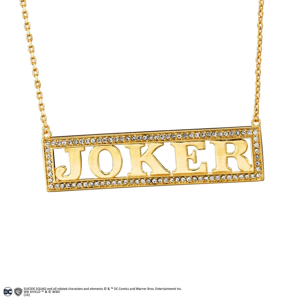 Suicide Squad Replica 1/1 Harley Quinn's Joker Necklace (gold-plated)