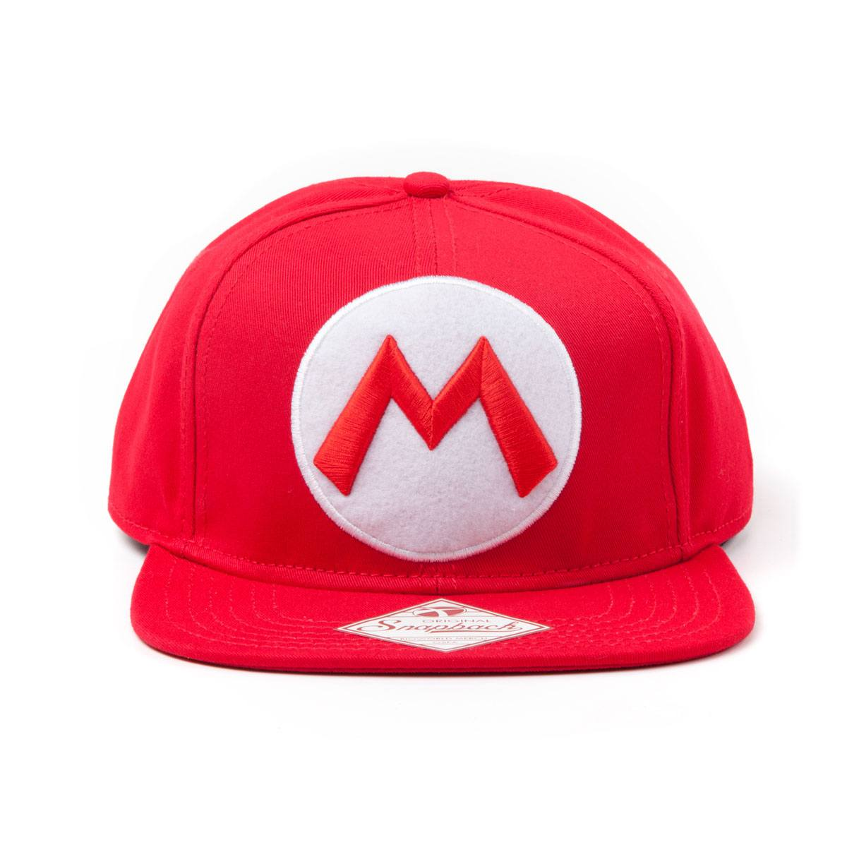 Nintendo Snapback Cap Red M Logo In Front