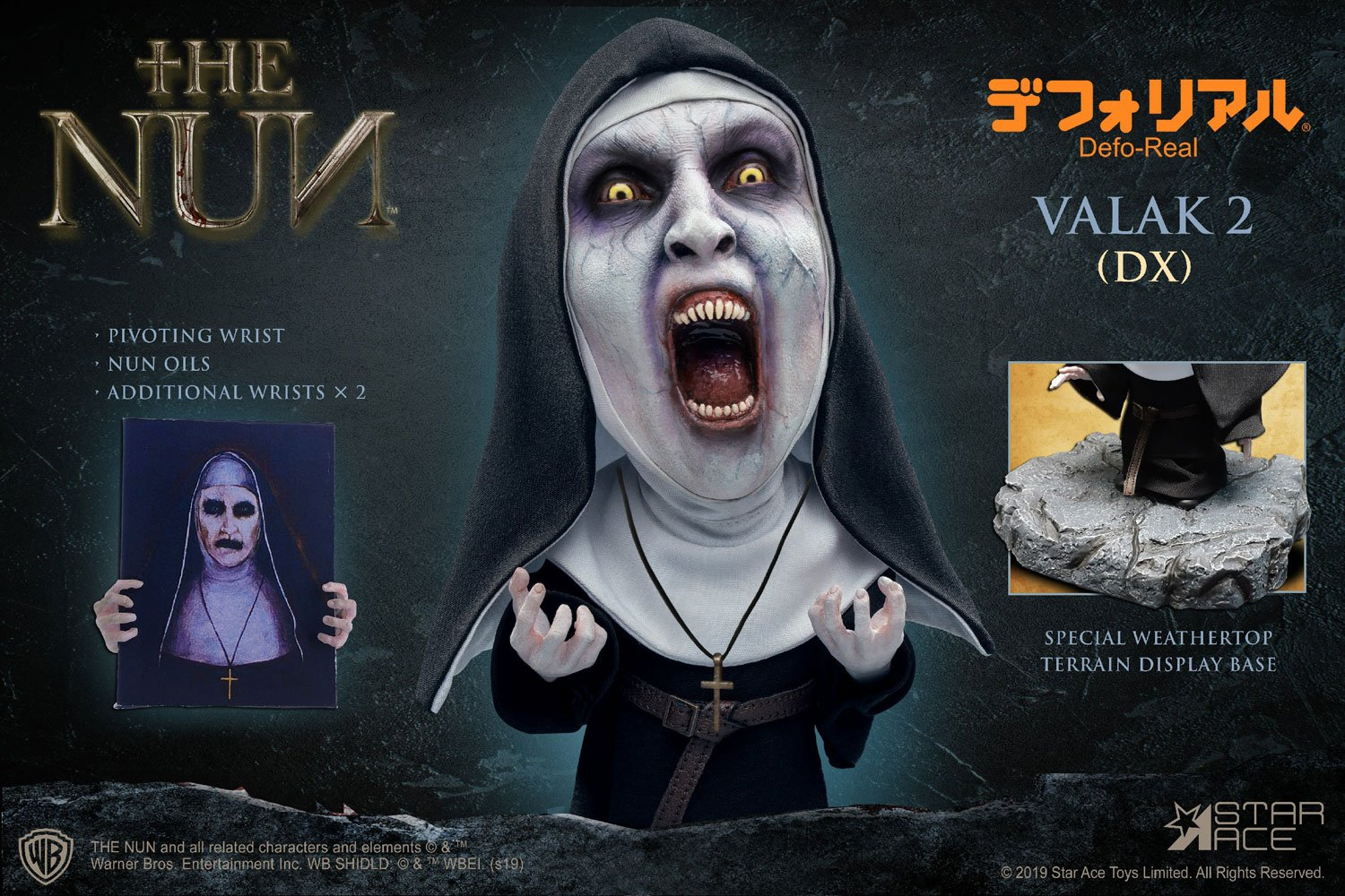 The Nun Defo-Real Series Soft Vinyl Figure Valak 2 (Open mouth) Deluxe Version 15 cm