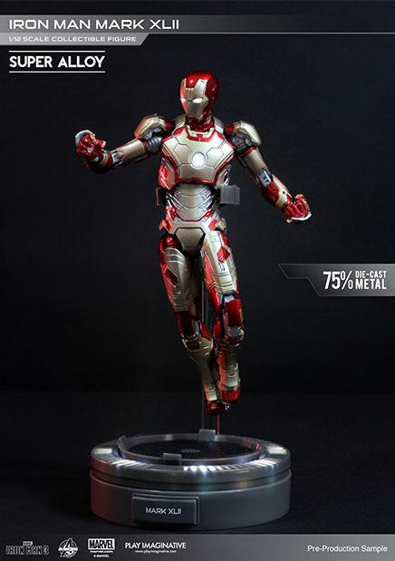 Iron Man 3 Super Alloy Action Figure 1/12 Iron Man Mark XLII 15 cm