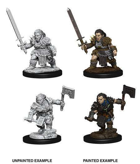 Pathfinder Battles Deep Cuts Unpainted Miniatures Female Dwarf Barbarian Case (6)