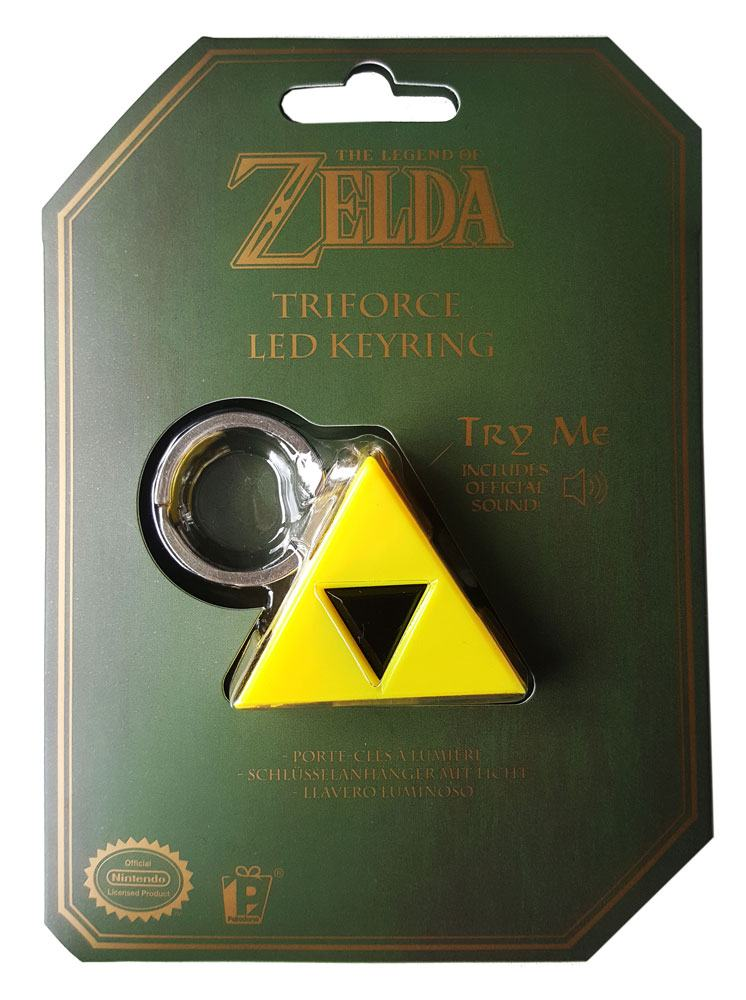Legend of Zelda Light-Up Keychain with sound Triforce