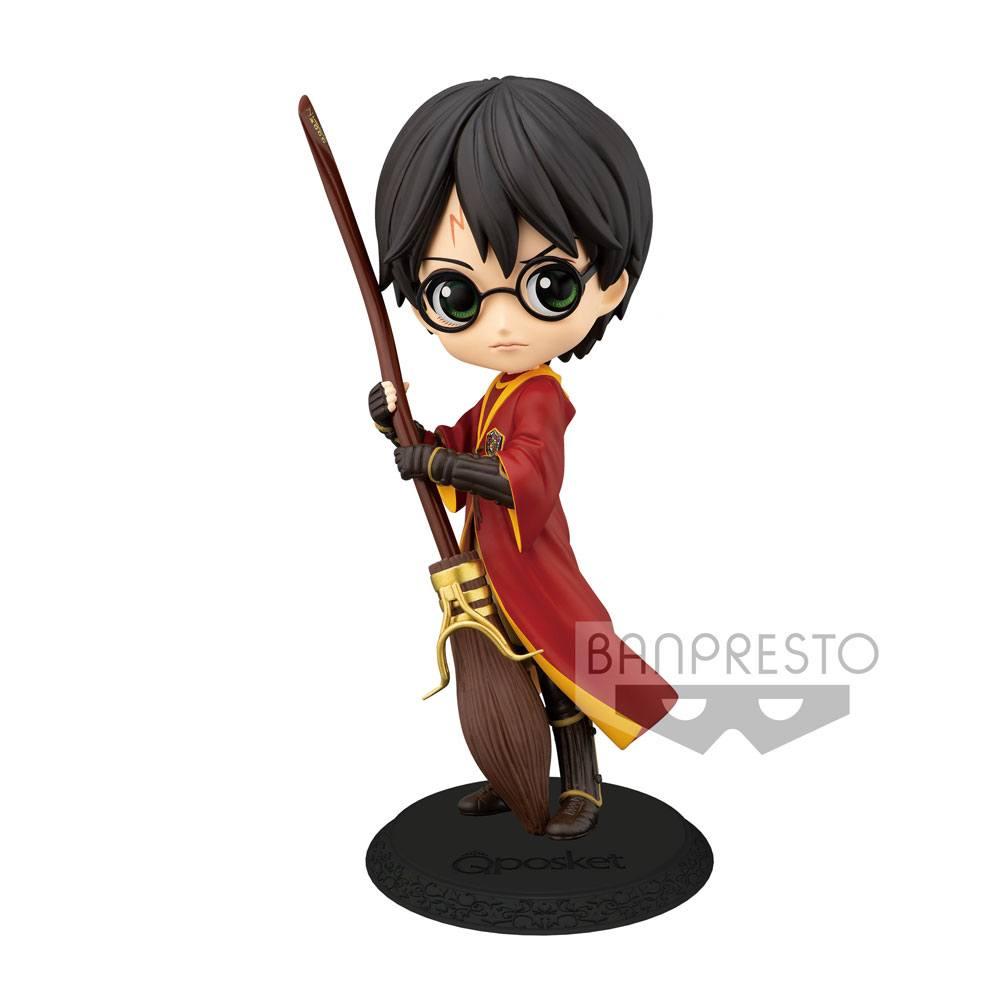 Harry Potter Q Posket Mini Figure Harry Potter Quidditch Style Version A 14 cm