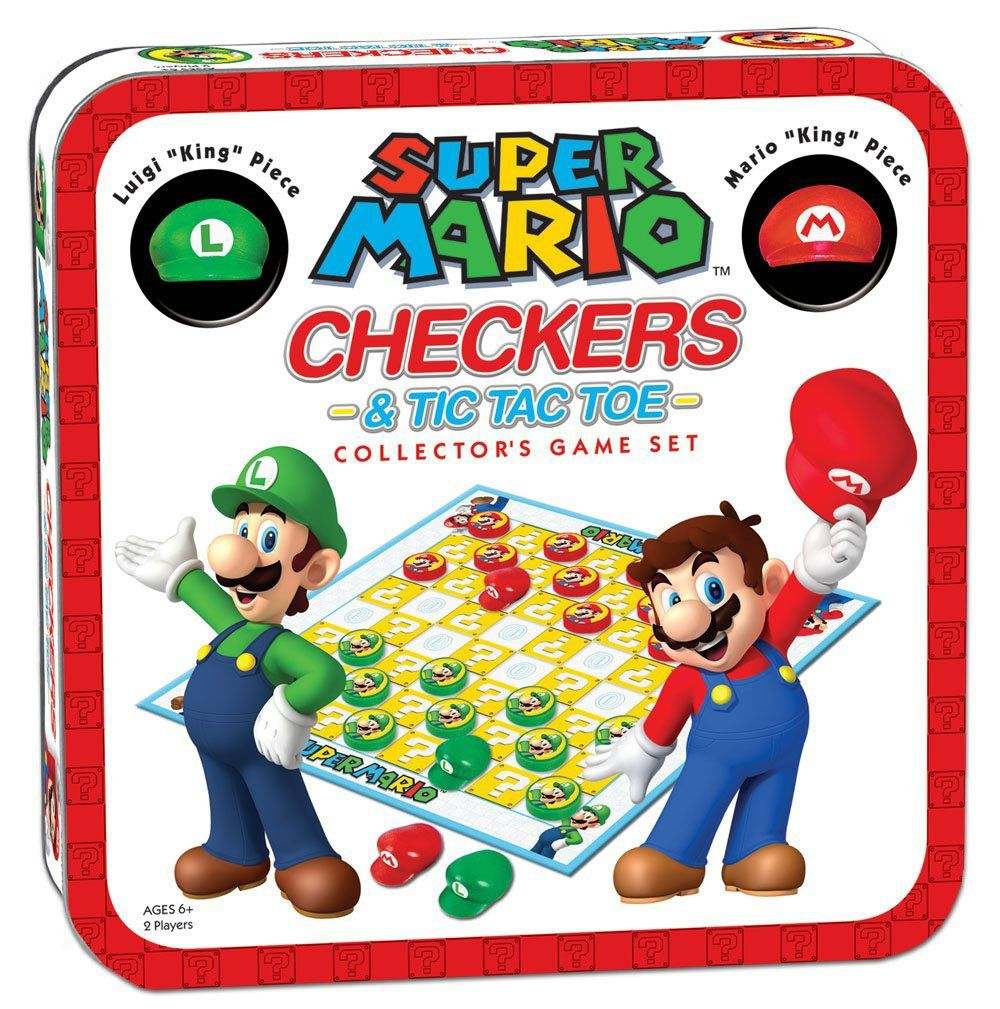 Super Mario Boardgame Checkers Collector's Game --- DAMAGED PACKAGING