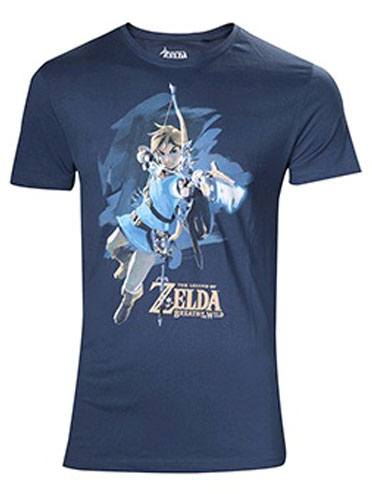 The Legend of Zelda Breath of the Wild T-Shirt Link with Arrow Size L