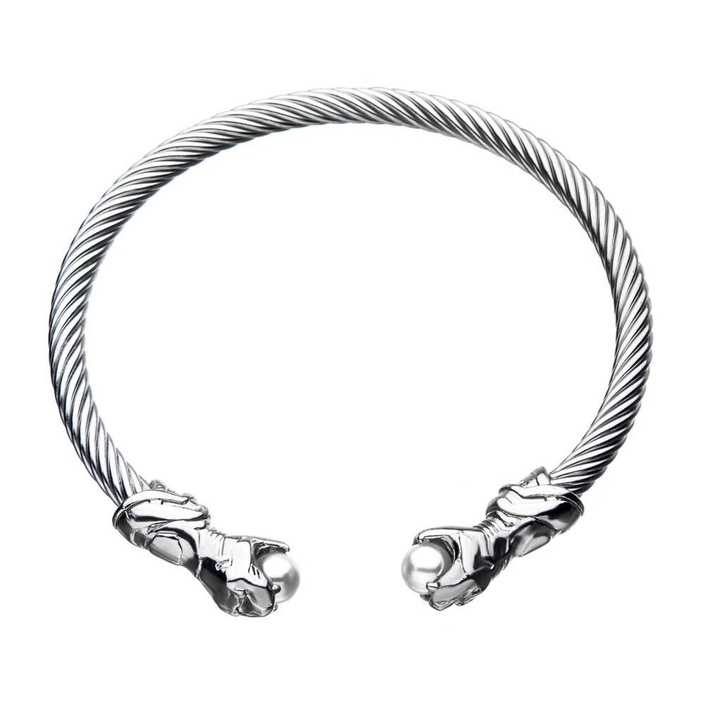 Black Panther Bracelet Shuri Gauntlets (silver plated)
