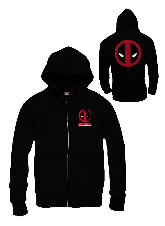 Deadpool Zipped Hooded Sweater Logo Size L