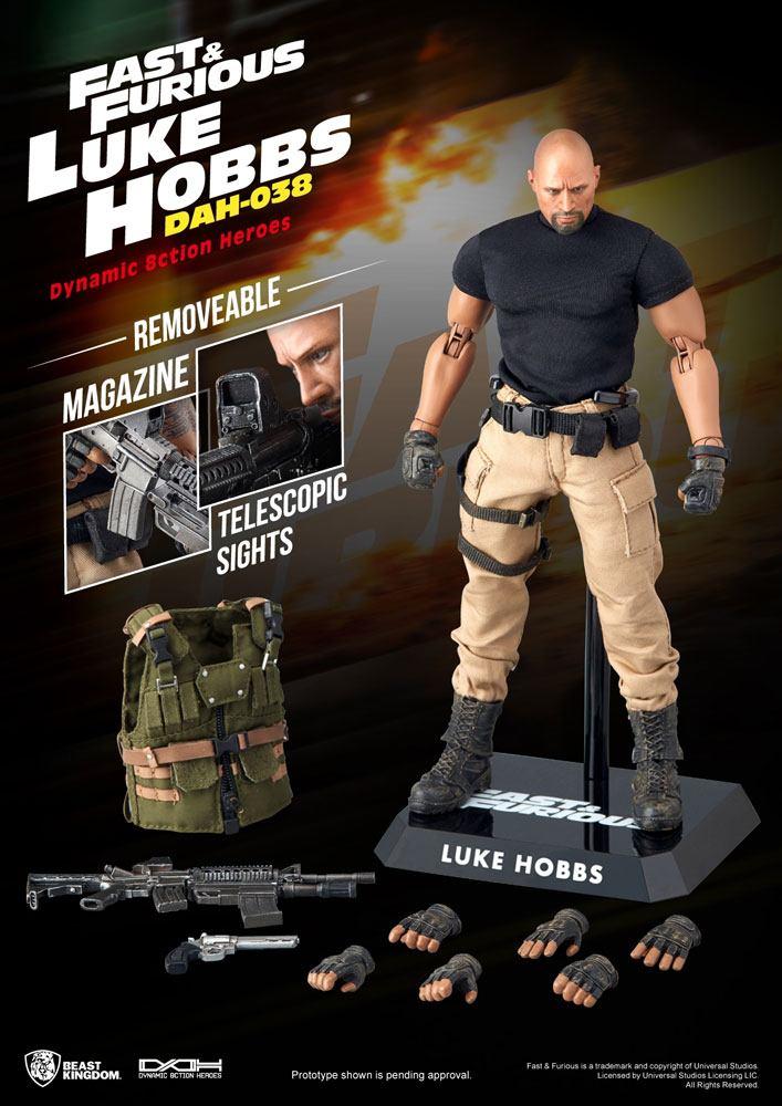 Fast & Furious Dynamic 8ction Heroes Action Figure 1/9 Luke Hobbs 21 cm