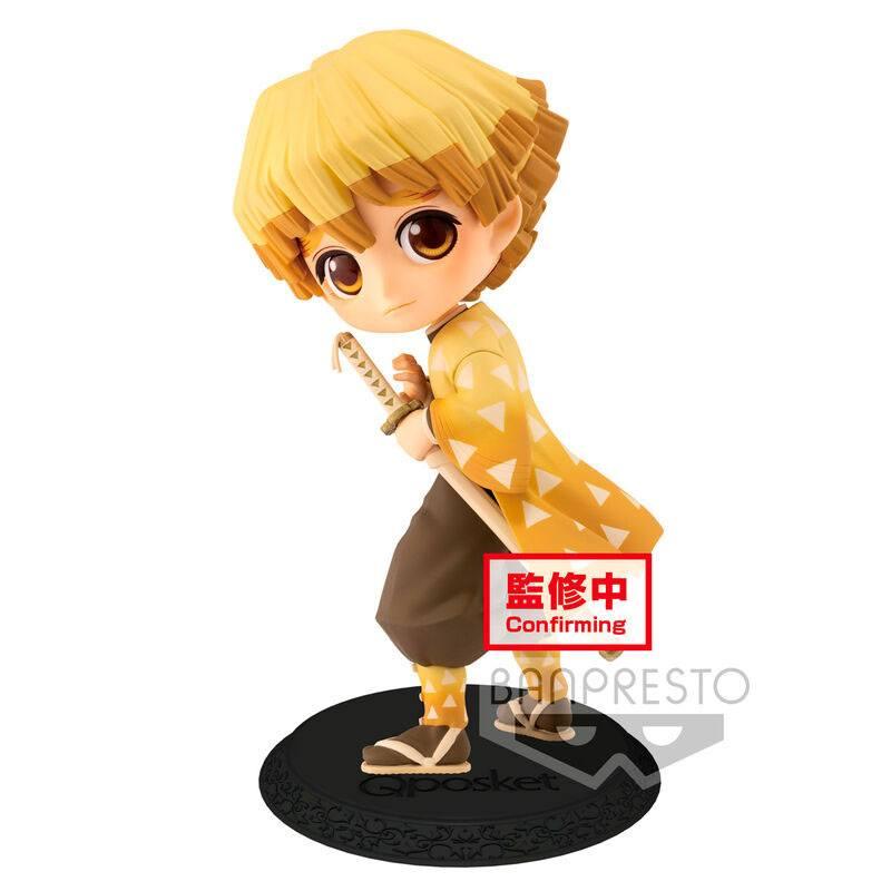 Demon Slayer Kimetsu no Yaiba Q Posket Mini Figure Zenitsu Agatsuma Ver. B 14 cm