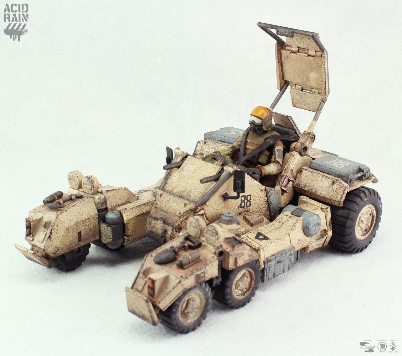 Acid Rain Transforming Mecha Action Vehicle with Mini Figure 1/18 Speeder MK.II (Sand) 23 cm