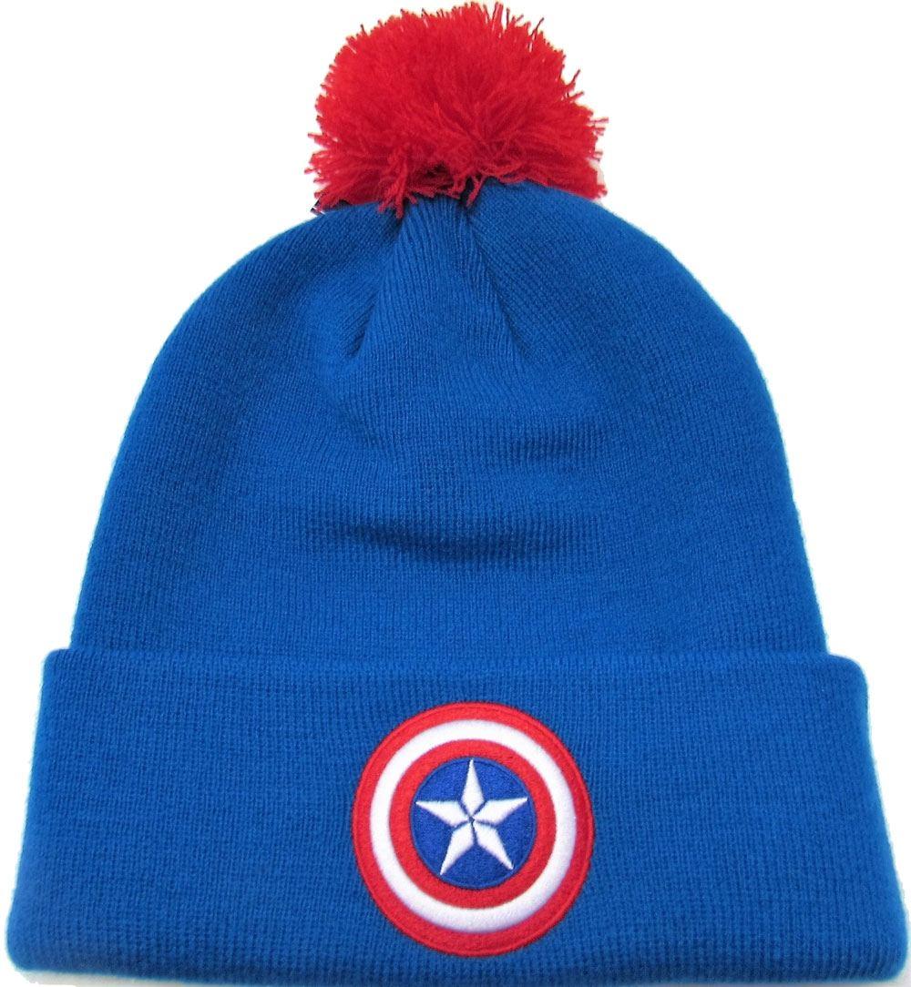 Captain America Beanie Bobble Logo