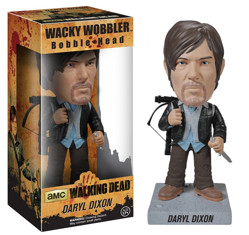 The Walking Dead Wacky Wobbler Bobble-Head New Biker Daryl 18 cm --- DAMAGED PACKAGING