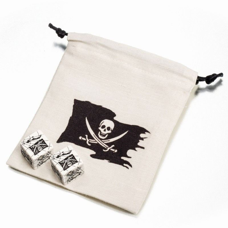 Pirate Dice Set (2) with Dice Bag