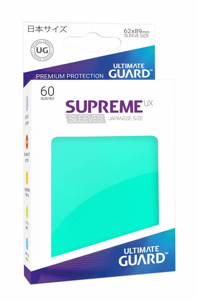 Ultimate Guard Supreme UX Sleeves Japanese Size Turquoise (60)