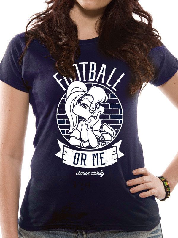 Looney Tunes Ladies T-Shirt Football Or Me Size M