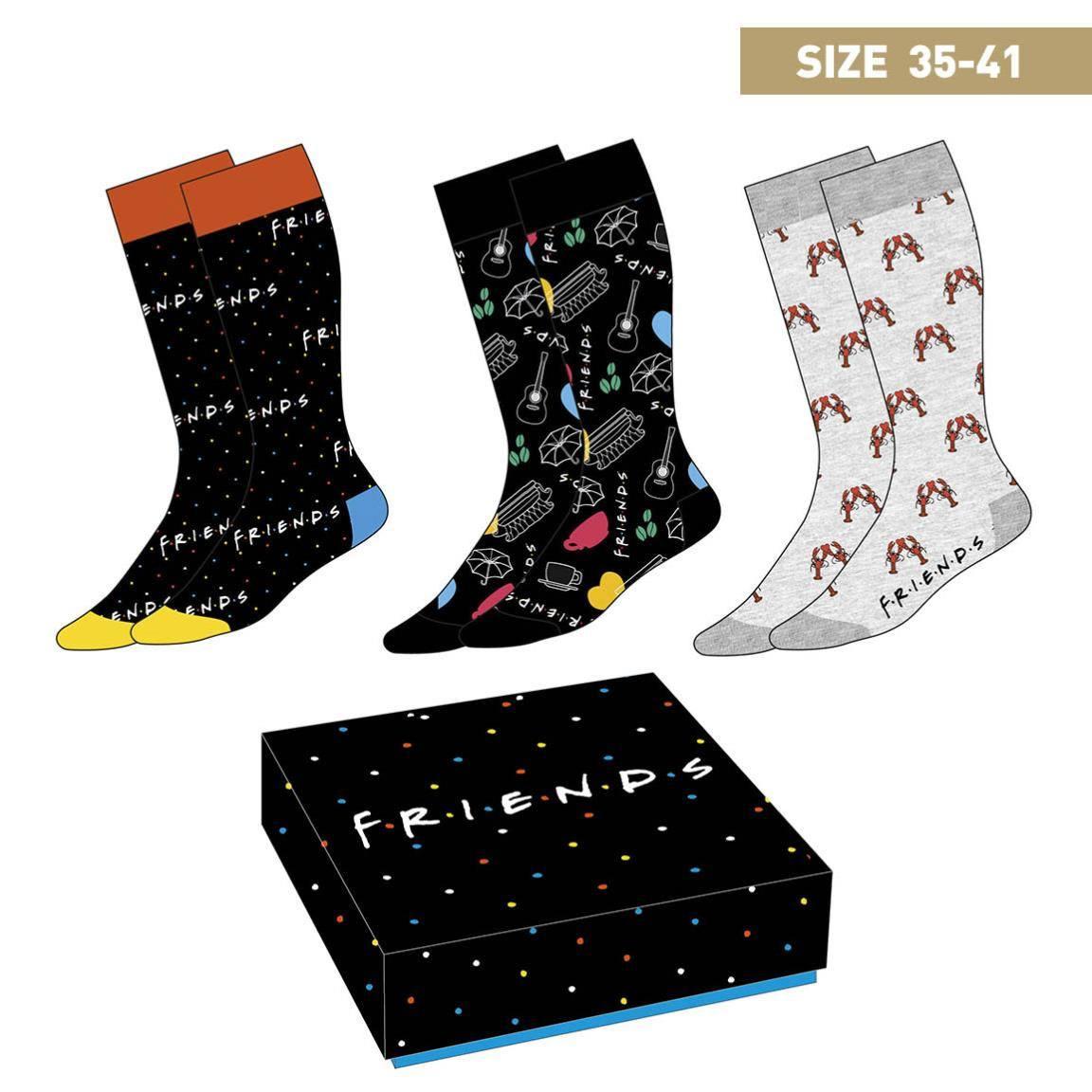Friends Socks 3-Pack Symbols 35-41