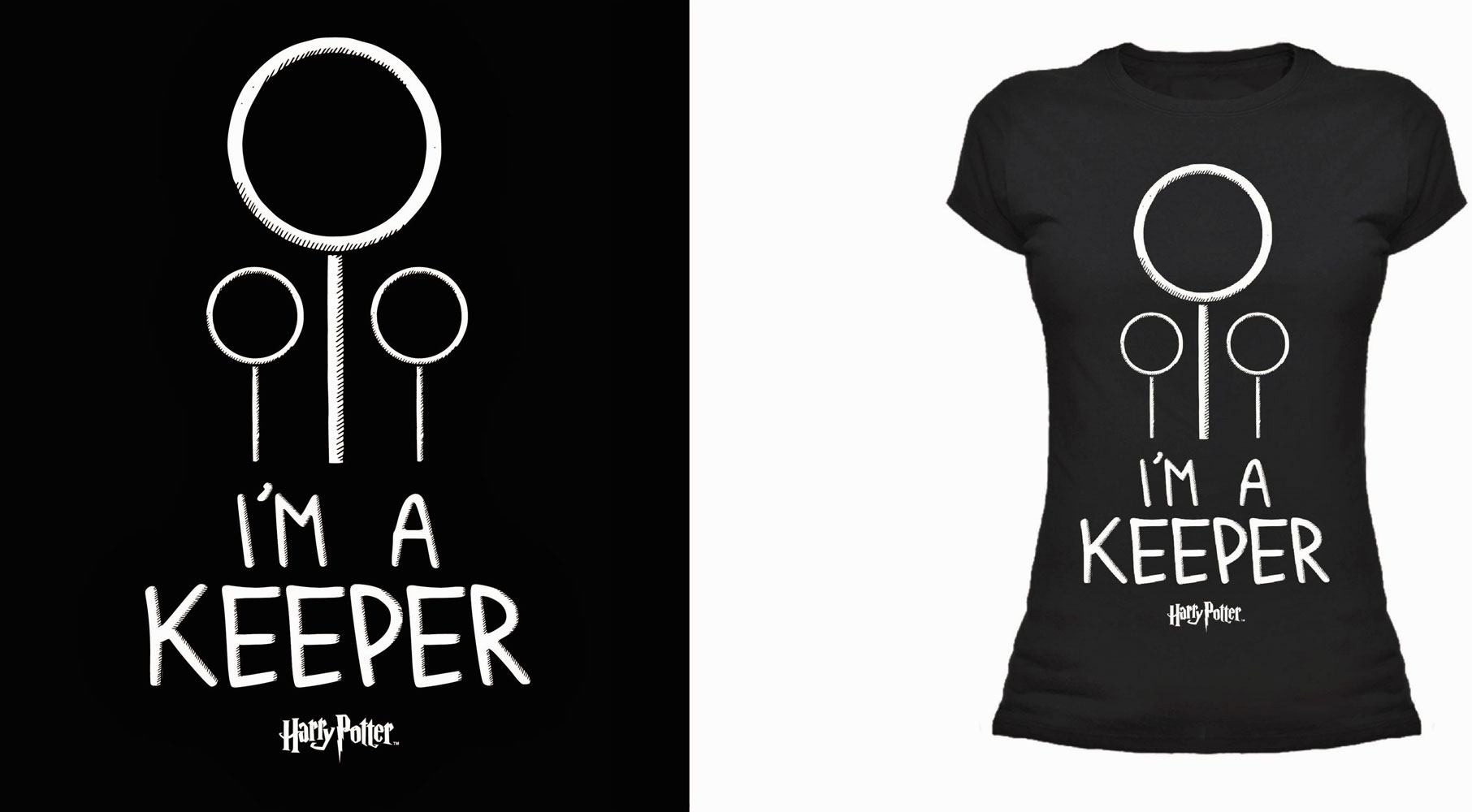 Harry Potter Ladies T-Shirt I'm A Keeper  Size L