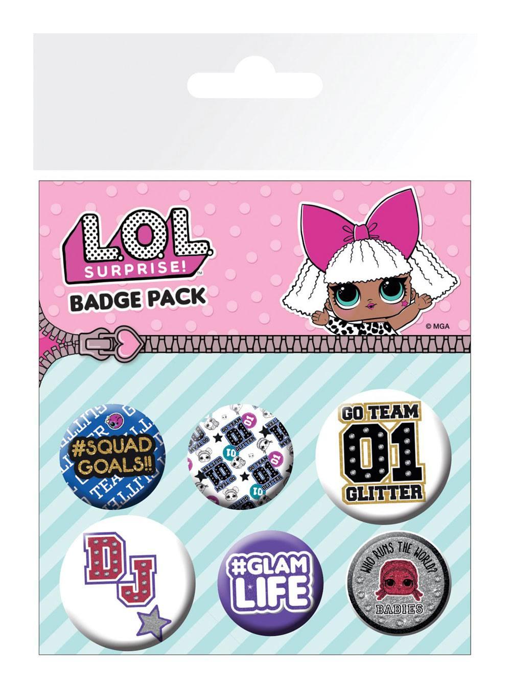L.O.L. Surprise! Pin Badges 6-Pack Mix