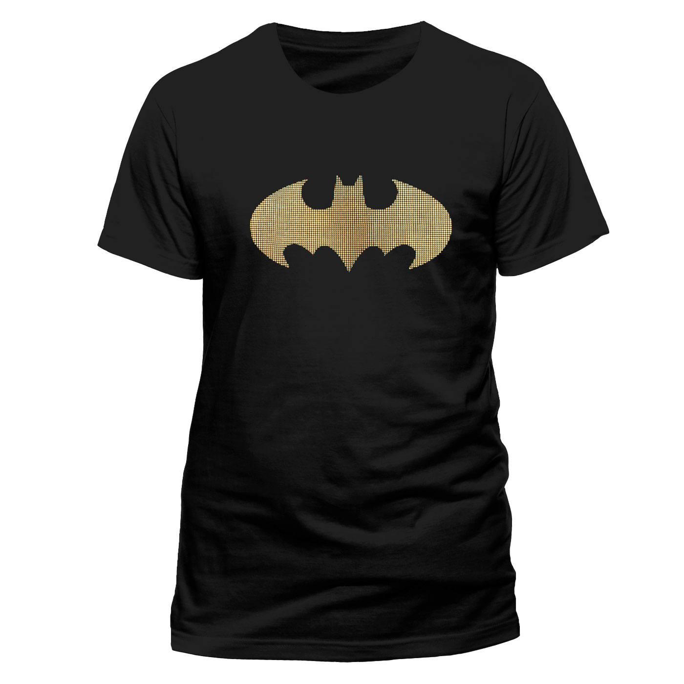 Batman T-Shirt 3 Colour Dots Size M