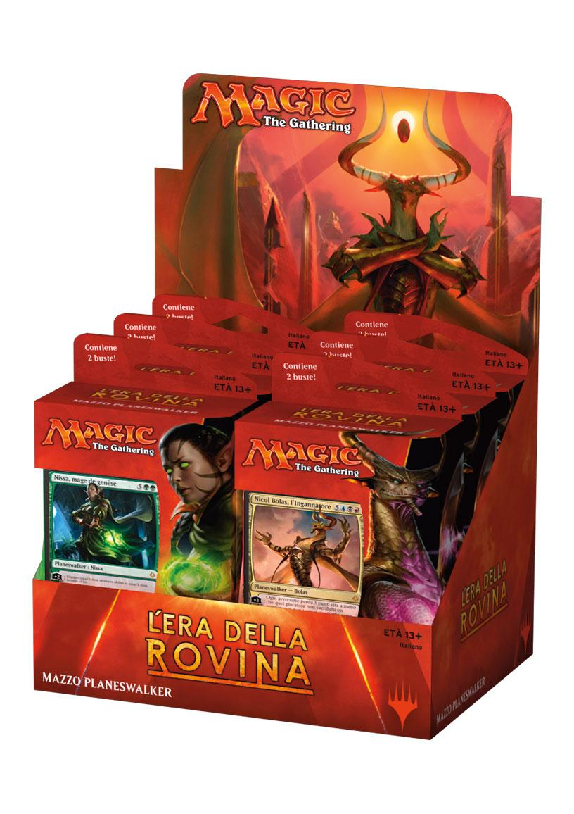 Magic the Gathering L'Era della Rovina Planeswalker Decks Display (6) italian