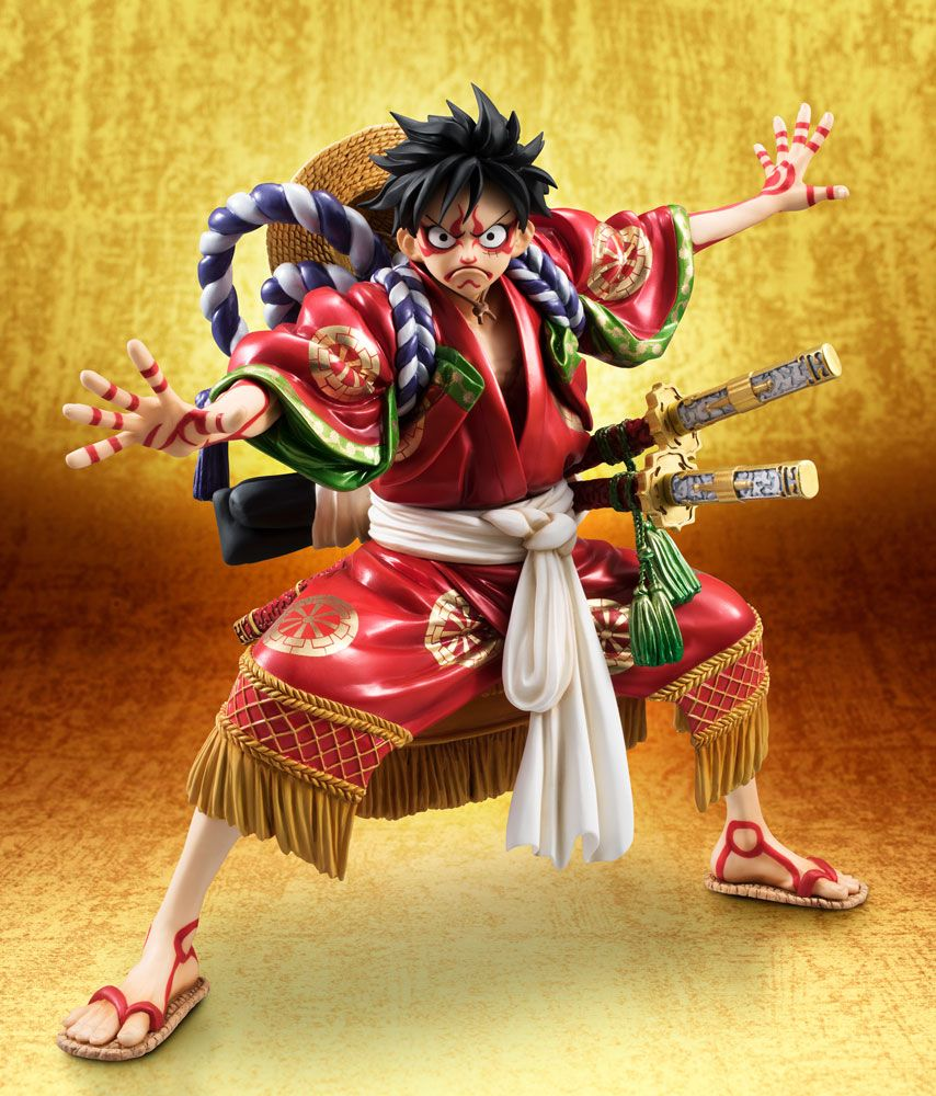 One Piece Excellent Model P.O.P PVC Statue Monkey D. Luffy Kabuki Edition 21 cm