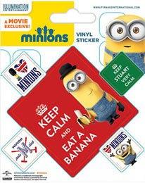 Minions Vinyl Sticker Pack (10) Keep Calm