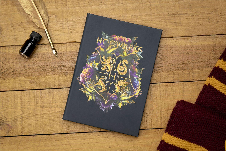Harry Potter Notebook Hogwarts Floral